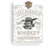 Whiskey Shirt Canvas Print