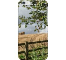 Harvest Time In East Devon iPhone Case/Skin