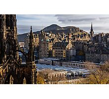 The old town from Princes street Photographic Print