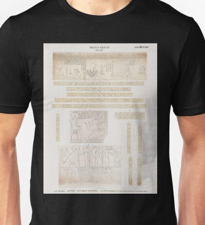 0334 Neues Reich Dynastie XIX a f Abydos g El Kâb el Kab h m Speos Artemidos n o Felsenstelen bei dem Wüstentempel von Redesîeh Unisex T-Shirt