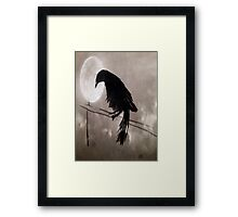 Crow Against The Wind Framed Print