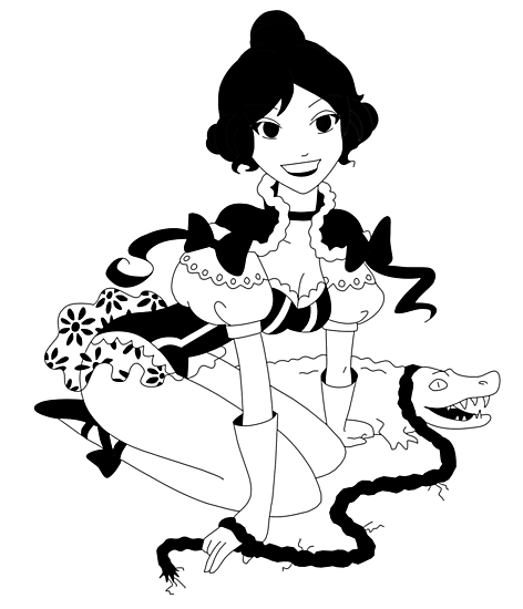 Pinup Tightrope Girl - Haunted Mansion by Tiffany Bailey