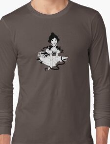 Pinup Tightrope Girl - Haunted Mansion Long Sleeve T-Shirt