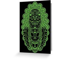 Alien of the dead Greeting Card