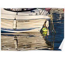 Misty Blue At Lyme Regis Harbour Poster