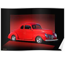 1940 Ford Coupe 'Now on Stage' Poster