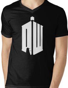 Dalek (white) Mens V-Neck T-Shirt