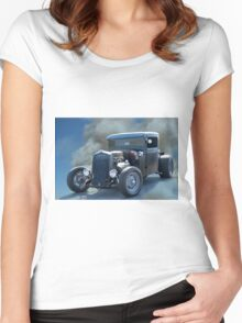 1932 Ford 'Out Ratgeous' Pickup Women's Fitted Scoop T-Shirt