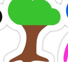 Nature (Lightning, Tree, Jellyfish) Sticker