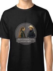 Wayhaught - You're a lesbian, not a unicorn Classic T-Shirt