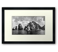 The Land Ends Framed Print