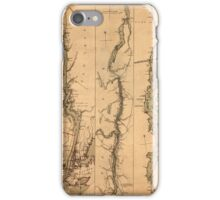 Map Of The Hudson River 1777 iPhone Case/Skin