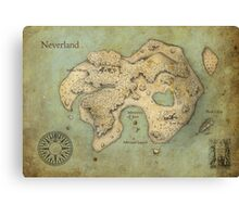 Peter Pan Neverland Map Canvas Print