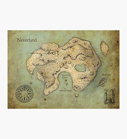 Peter Pan Neverland Map Photographic Print