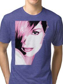 Cindy Crawford vector drawing Tri-blend T-Shirt