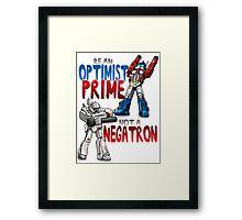 Optomist Prime - Negatron Framed Print