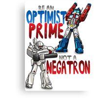 Optomist Prime - Negatron Canvas Print