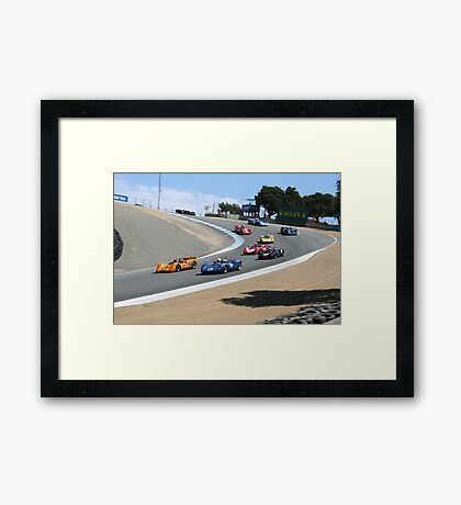 Can-Am in the Corkscrew Framed Print