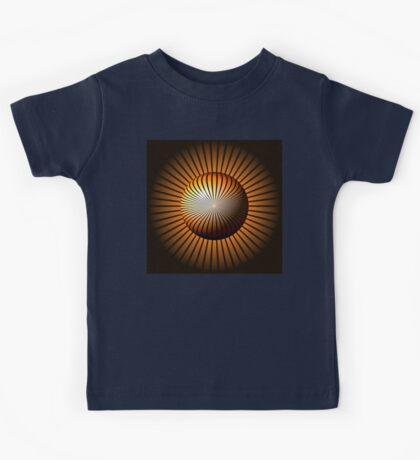 Abstract Brown Globe Kids Tee
