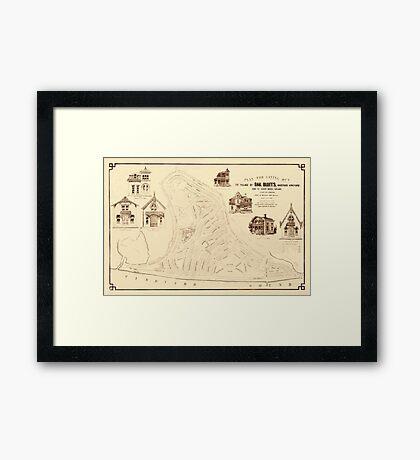 Map Of Marthas Vineyard 1866 Framed Print