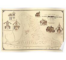 Map Of Marthas Vineyard 1866 Poster
