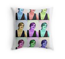 Emma Watson Pop Art Throw Pillow