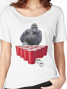 Harambe Beer Pong Women's Relaxed Fit T-Shirt