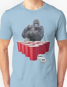 Harambe Beer Pong Unisex T-Shirt