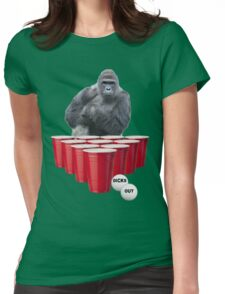 Harambe Beer Pong Womens Fitted T-Shirt