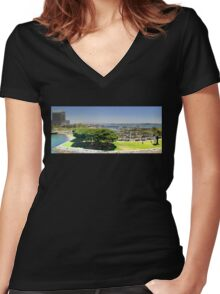 San Diego Women's Fitted V-Neck T-Shirt