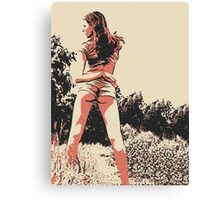 """Kinky posing and """"Dat ass"""", sexy girl in hot pose Canvas Print"""