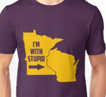 Limited Edition Minnesota Vikings I'm With Stupid Unisex T-Shirt
