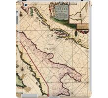Map Of The Adriatic Sea 1700 iPad Case/Skin