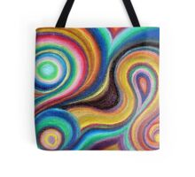 Swirly Colors Tote Bag