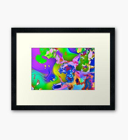 Psychedelic dog Framed Print