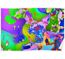 Psychedelic dog Poster