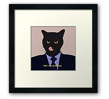 Stanley the cat Framed Print