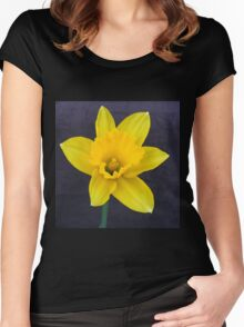 Bright Yellow Daffodil Women's Fitted Scoop T-Shirt