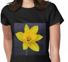 Bright Yellow Daffodil Womens Fitted T-Shirt