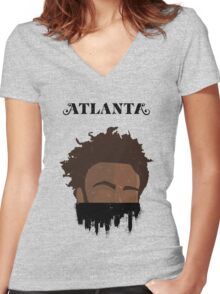Atlanta Graffiti 2 Women's Fitted V-Neck T-Shirt