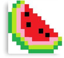 Minecraft Watermelon Canvas Print