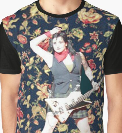 Lynz Floral Background Graphic T-Shirt