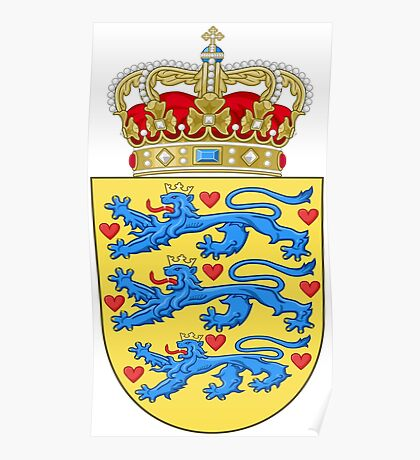 Coat of arms of Denmark Poster