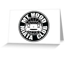 Mt Hood Miata Club BLK Greeting Card