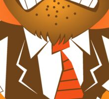 Angry Tiger Businessman Sticker
