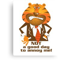 Angry Tiger Businessman Canvas Print