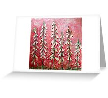 Wild Garden - Foxgloves in Pink Greeting Card