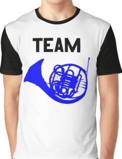 Team Blue French Horn – Ted, Robin, HIMYM Graphic T-Shirt