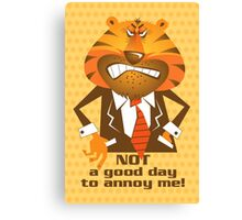 Angry Tiger Businessman 2 Canvas Print