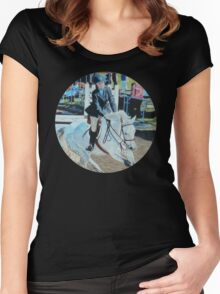 Horseshow T-Shirt or Hoodie Women's Fitted Scoop T-Shirt